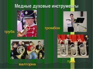 Медные духовые инструменты труба тромбон валторна туба