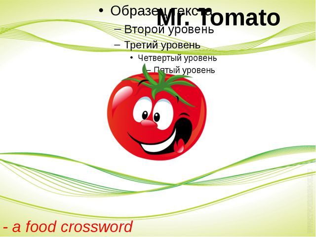 Mr. Tomato - a food crossword