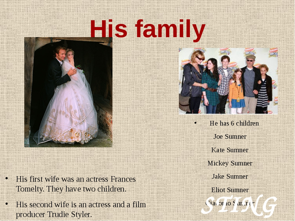 His family His first wife was an actress Frances Tomelty. They have two child...