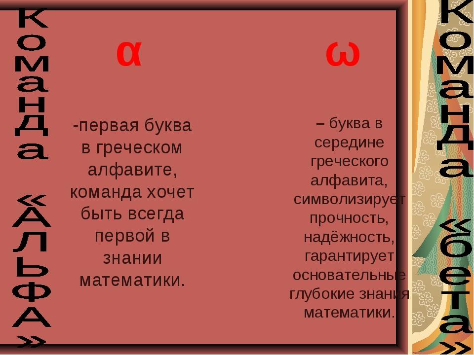 α – буква в середине греческого алфавита, символизирует прочность, надёжность...