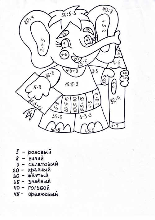 http://www.mat-raskraska.ru/images/stories/Raskraski/Tablitsa-umnozenia-delenia/slonenok-umnoz-del-na5_m.jpg