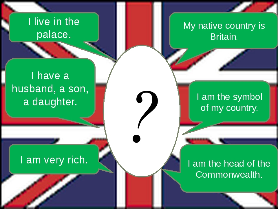 ? I live in the palace. My native country is Britain. I am the symbol of my c...