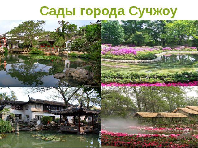 Сады города Сучжоу
