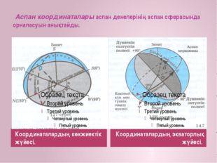 Аспан координаталары аспан денелерінің аспан сферасында орналасуын анықтайды