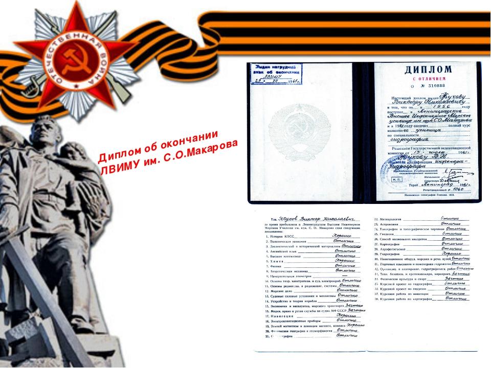 Диплом об окончании ЛВИМУ им. С.О.Макарова