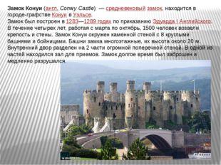 Замок Конуи(англ.Conwy Castle) —средневековыйзамок, находится в городе-г