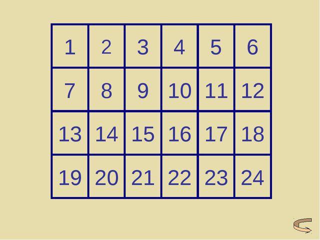 19 20 21 22 23 24 13 14 15 16 17 18 7 8 9 10 11 12 1 2 3 4 5 6