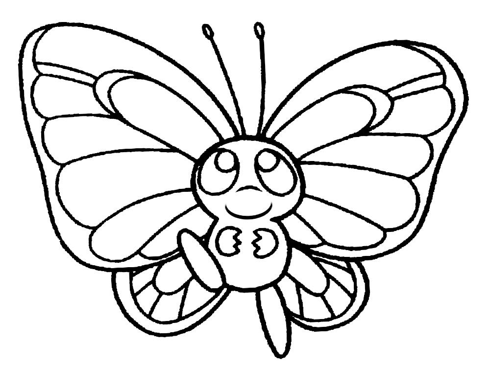 Скачать бабочка раскраска