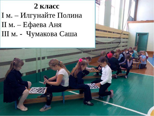 2 класс I м. – Илгунайте Полина II м. – Ефаева Аня III м. - Чумакова Саша