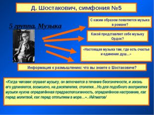 Д. Шостакович, симфония №5 «Когда человек слушает музыку, он включается в теч