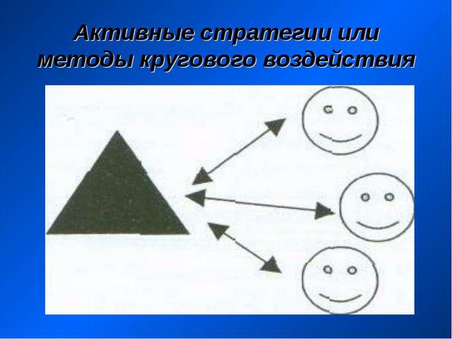 Активные стратегии или методы кругового воздействия