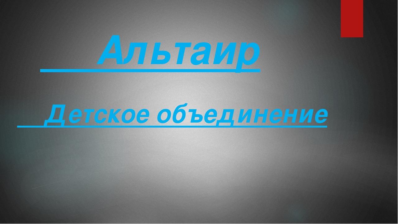 Альтаир Детское объединение