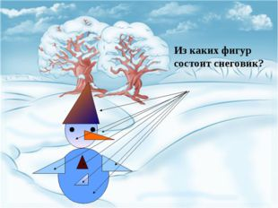 Из каких фигур состоит снеговик?