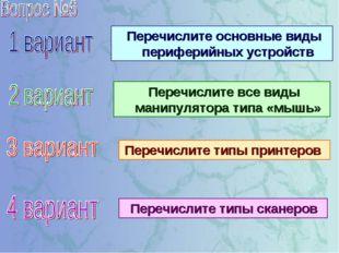 Перечислите основные виды периферийных устройств Перечислите все виды манипу