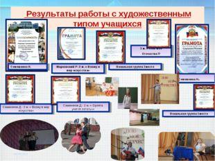 Результаты работы с художественным типом учащихся Семешкина Н. Семешкина Н.
