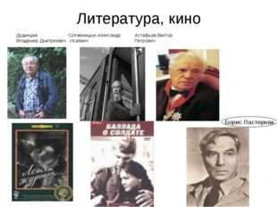 Литература, кино Дудинцев Солженицын Александр Астафьев Виктор Владимир Дмитр