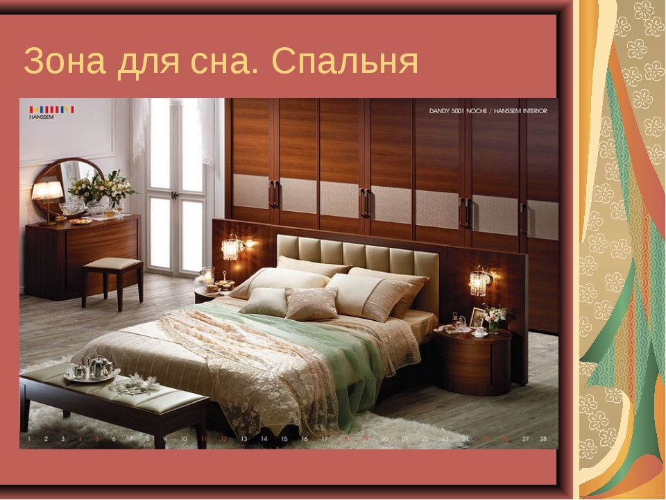 Зона для сна. Спальня