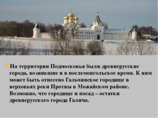 На территории Подмосковья были древнерусские города, возникшие и в послемонго