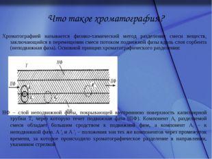 Что такое хроматография? Хроматографией называется физико-химический метод ра