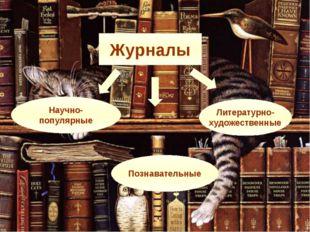 Научно- популярные Познавательные Литературно- художественные Журналы