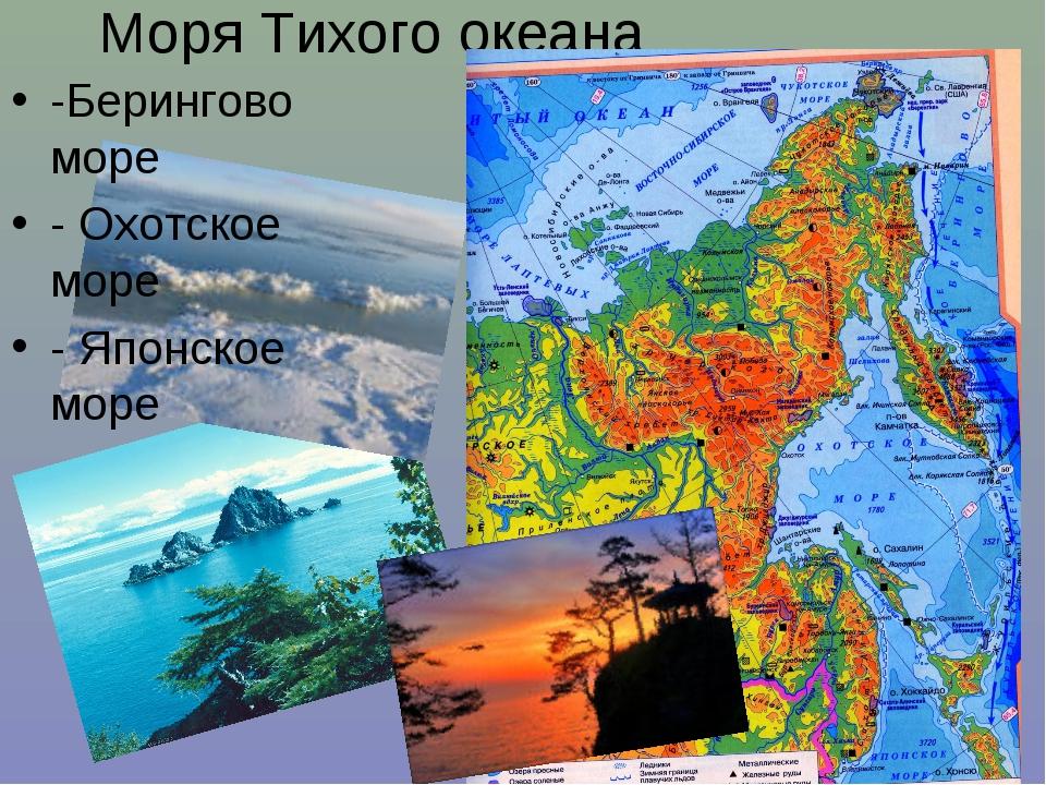 Моря Тихого океана -Берингово море - Охотское море - Японское море