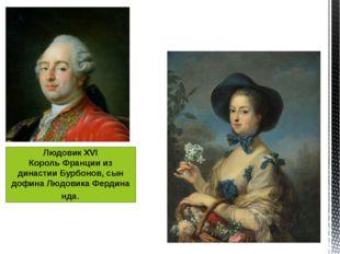 Людовик XVI КорольФранциииз династии Бурбонов, сын дофинаЛюдовикаФердинан