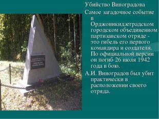 Убийство Виноградова Самое загадочное событие в Орджоникидзеградском городско