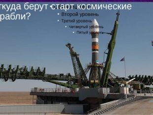 Откуда берут старт космические корабли?