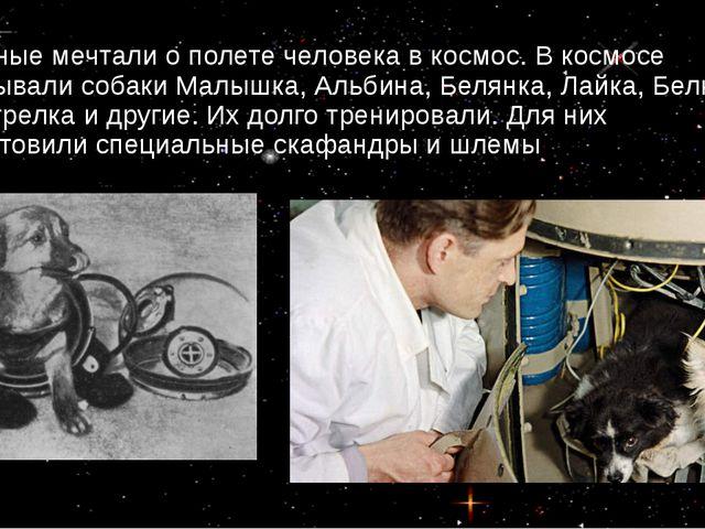 Ученые мечтали о полете человека в космос. В космосе побывали собаки Малышка,...