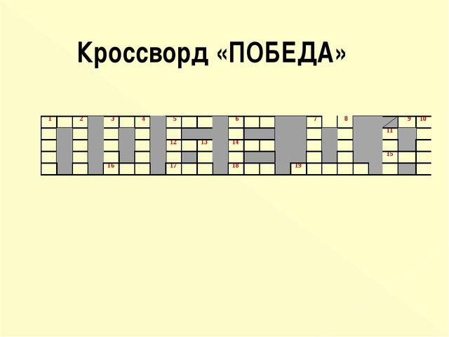 Кроссворд «ПОБЕДА»