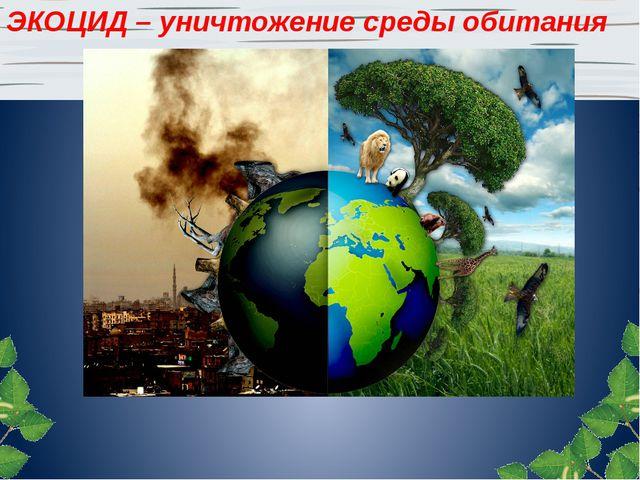 ЭКОЦИД – уничтожение среды обитания