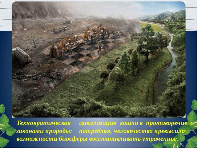 Технократическая цивилизация вошла в противоречие с законами природы: потребл...