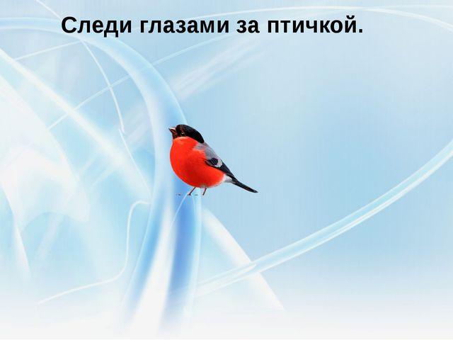 Следи глазами за птичкой.