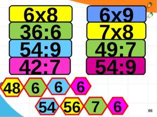 6х8 36:6 54:9 42:7 6х9 7х8 49:7 54:9 48 6 6 6 54 56 7 6 66