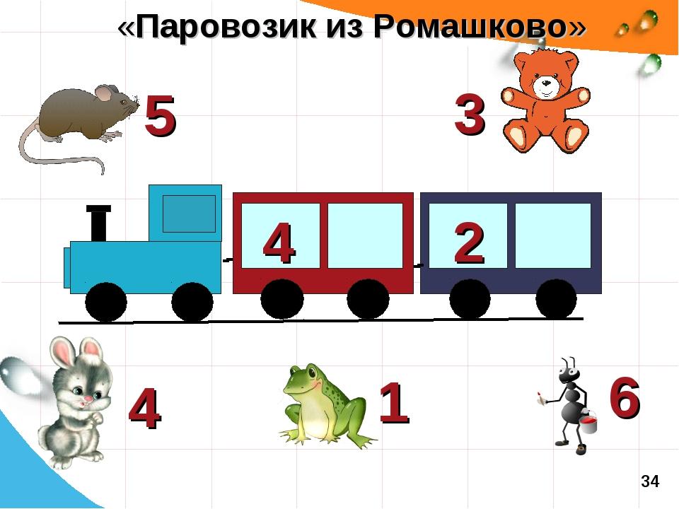 4 2 3 5 6 1 4 «Паровозик из Ромашково» 34
