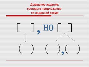 Домашнее задание: составьте предложение по заданной схеме