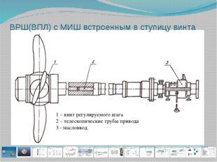 ВРШ(ВПЛ) с МИШ встроенным в ступицу винта 1 – винт регулируемого шага 2 – тел