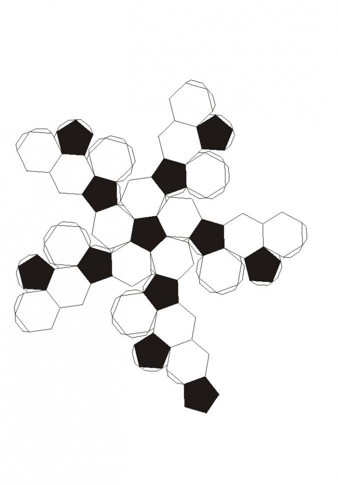 Мяч из бумаги схемы шаблоны