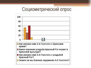 Социометрический опрос