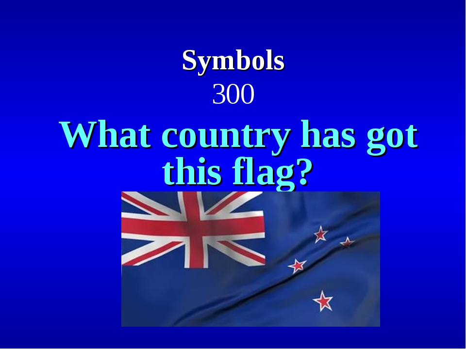 Symbols 300 What country has got this flag?