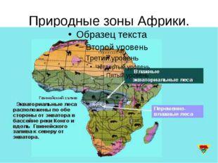 Природные зоны Африки.