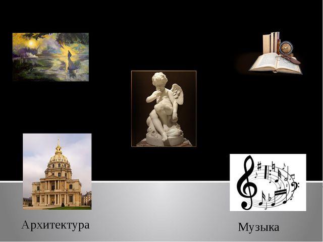 К искусству относится : Живопись Архитектура Скульптура Литература Музыка
