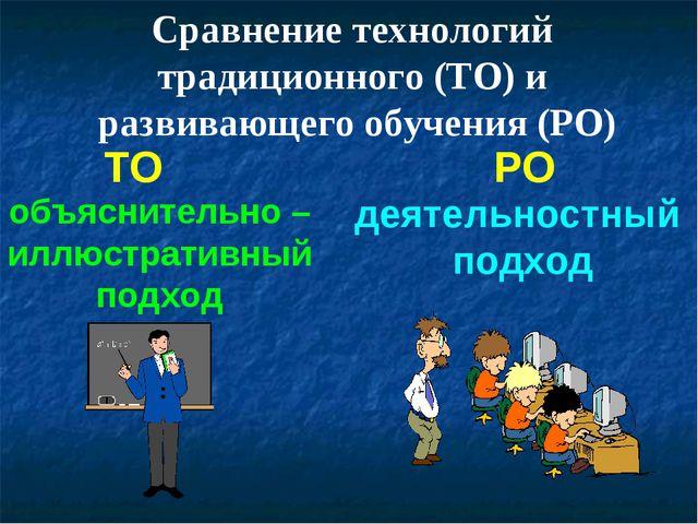 ТО РО объяснительно – иллюстративный подход деятельностный подход Сравнение т...