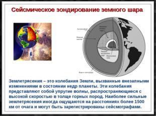 Землетрясения – это колебания Земли, вызванные внезапными изменениями в состо