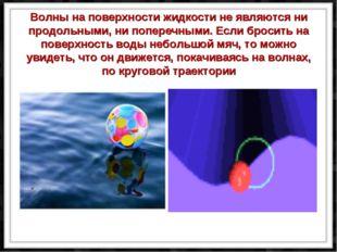 Волны на поверхности жидкости не являются ни продольными, ни поперечными. Ес