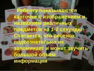 . Ребенку показываются карточки с изображением и названием различных предмето