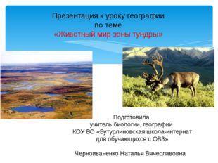 Презентация к уроку географии по теме «Животный мир зоны тундры» Подготовила