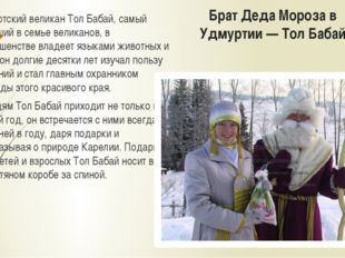 Брат Деда Мороза в Удмуртии — Тол Бабай Удмуртский великан Тол Бабай, самый м