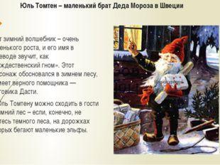 Юль Томтен – маленький брат Деда Мороза в Швеции Этот зимний волшебник – очен