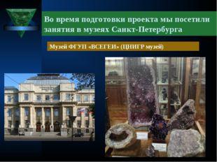 Во время подготовки проекта мы посетили занятия в музеях Санкт-Петербурга Муз